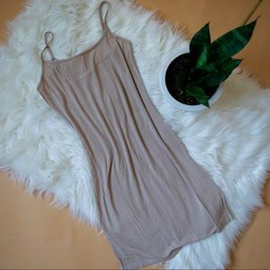 Nude cami tank slip dress